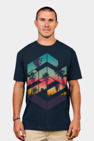 Geometric Sunset beach