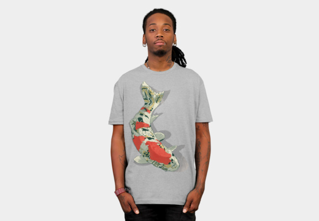 Tattooed Koi T-Shirt - Design By Humans