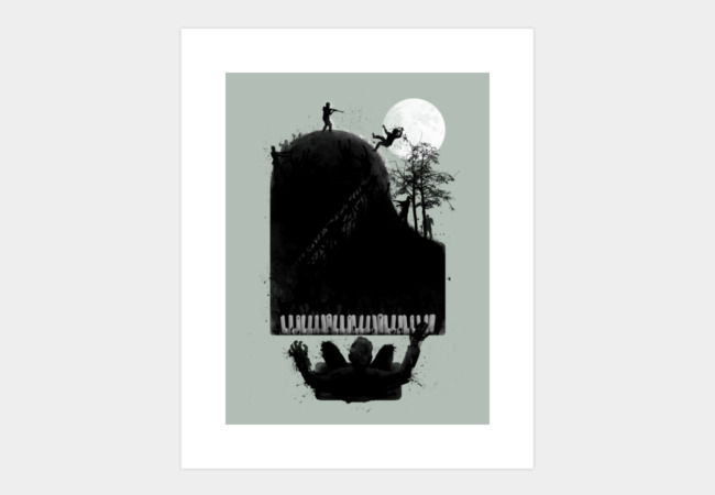 the zombie pianist ; moonlight zonataa.. Art Print - Design By Humans
