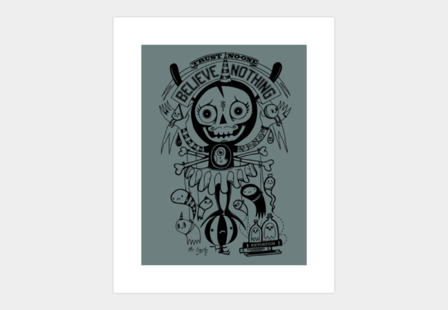 Mr Pessimist Art Print - Design By Humans