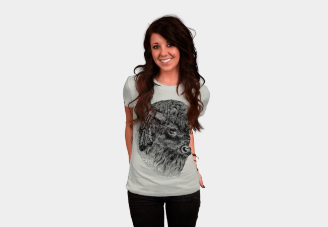 Buffalo Head T-Shirt - Design By Humans