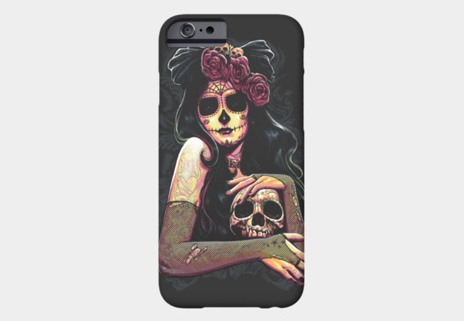 Dama De La Muerte Phone Case - Design By Humans
