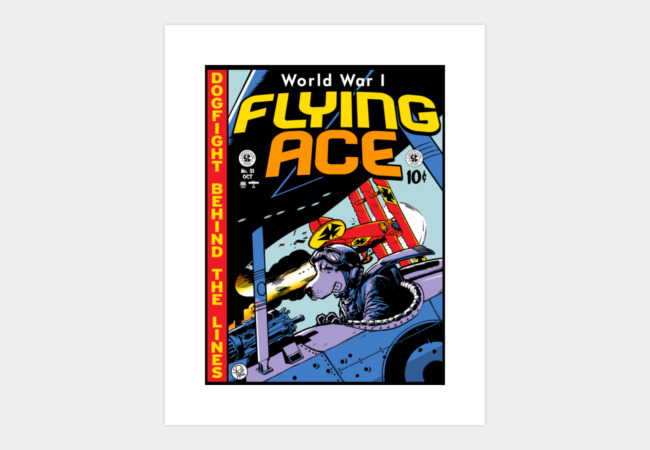 World War I Flying Ace Art Print - Design By Humans