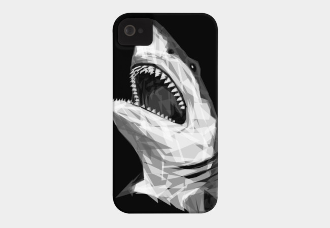 Geometric Shark Phone Case - Design By Humans