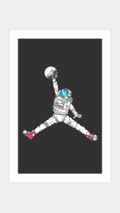 Space Dunk Art Prints