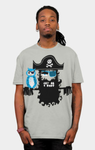 Hipster Pirate T-Shirt