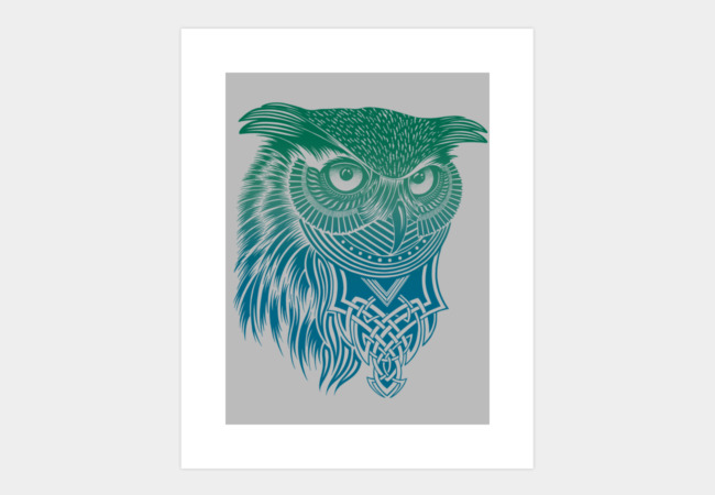 Warrior Owl Art Print - Design By Humans