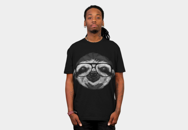 Geometric Sloth T-Shirt - Design By Humans