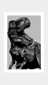 jurassic newspapper Art Prints