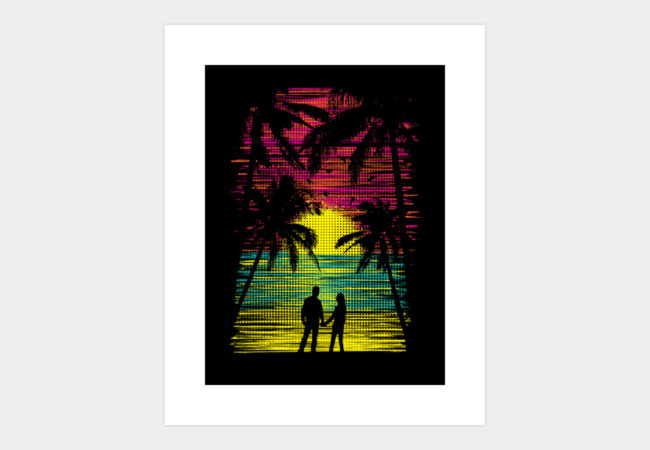 Sunset Paradise Art Print - Design By Humans