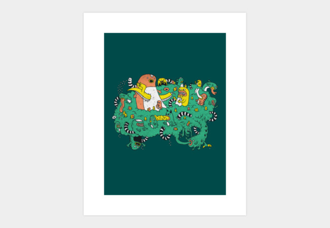 What happens in the Cloud Art Print - Design By Humans