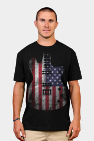 Flag USA Guitar