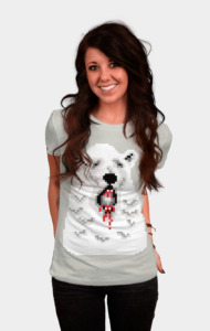Pixel Polar Bear T-Shirt