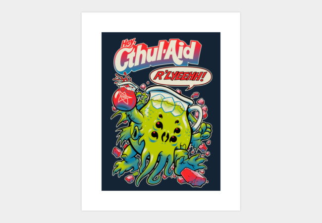 CTHUL-AID Art Print - Design By Humans