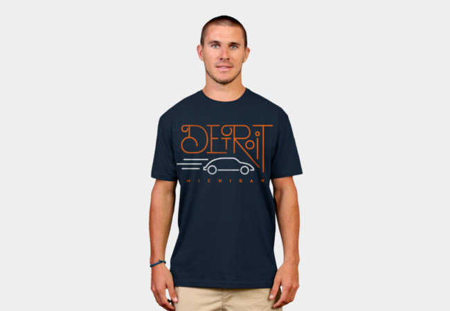 Detroit, Michigan T-Shirt - Design By Humans