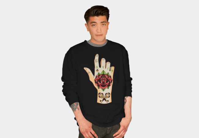 Tatttoed Hand Sweatshirt - Design By Humans