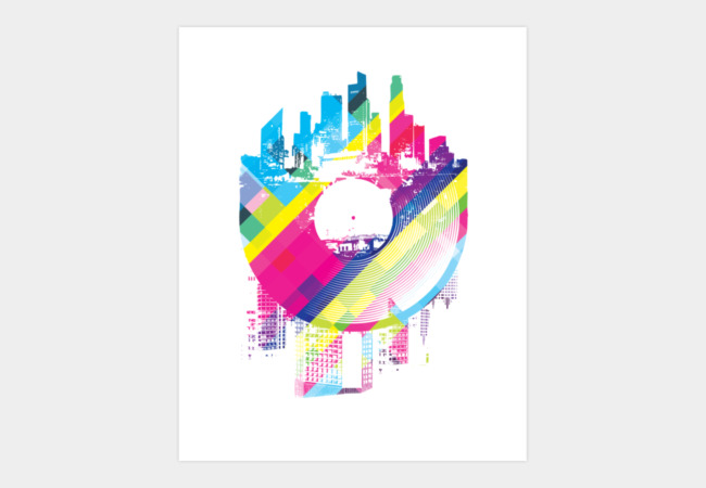 Urban Vinyl Art Print - Design By Humans