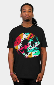 Skull and Color T-Shirt