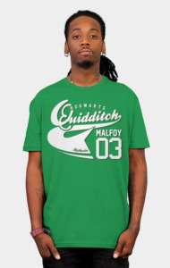 Quidditch Malfoy Athletic Tee T-Shirt