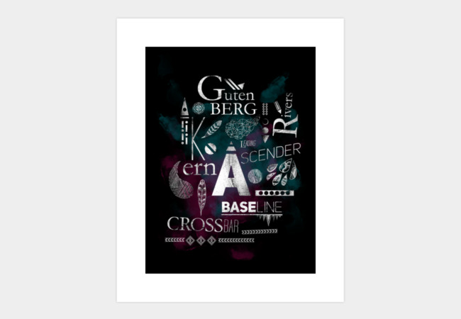 Type Lesson Art Print - Design By Humans