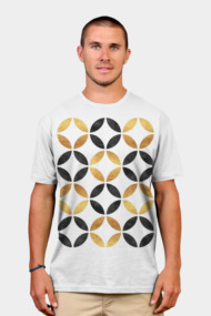 Abstract Black and Gold Pattern Art