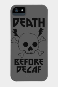 Death Before Decaf Skull