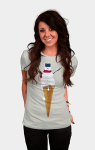 Melting Snowman Cone T-Shirt