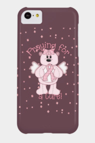 Breast Cancer Awareness Pink Angel Bear