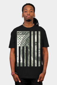 Money Flag (vintage distressed look)