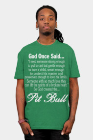 God Created The Pit Bull