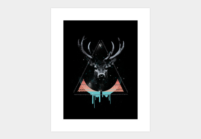 The Blue Deer Art Print - Design By Humans