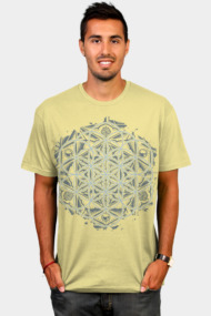 Sacred Geometry Flower of Life Mandala Monochrome