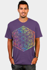 Sacred Geometry Flower of Life Mandala Color 4