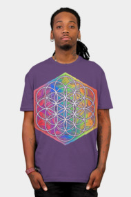 Sacred Geometry Flower of Life Mandala Color 3