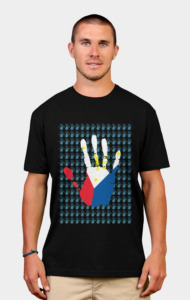 Give a Hand by jrtoyman T-Shirt
