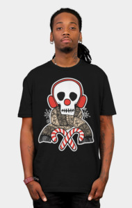 Stay Warm Holiday Skull T-Shirt