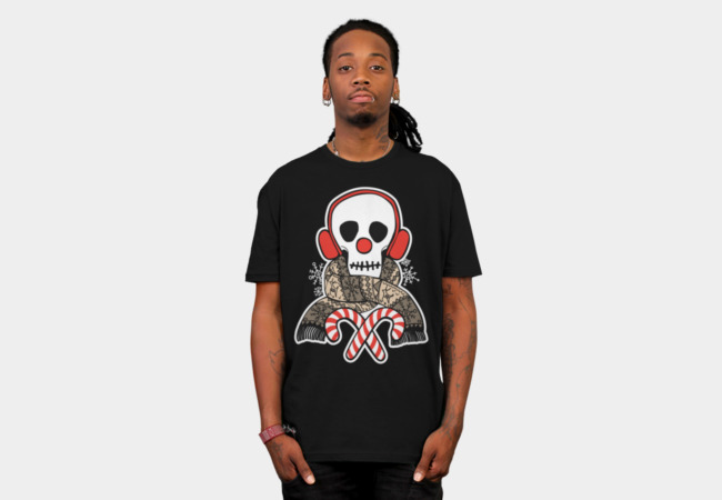 Stay Warm Holiday Skull T-Shirt - Design By Humans