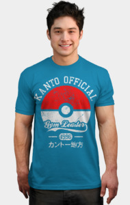 Kanto official - Gym leader T-Shirt