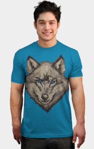 Pixel Wolf - Browns T-Shirt