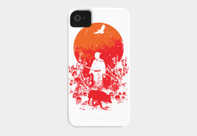 Red Sun Phone Case - Design By Humans