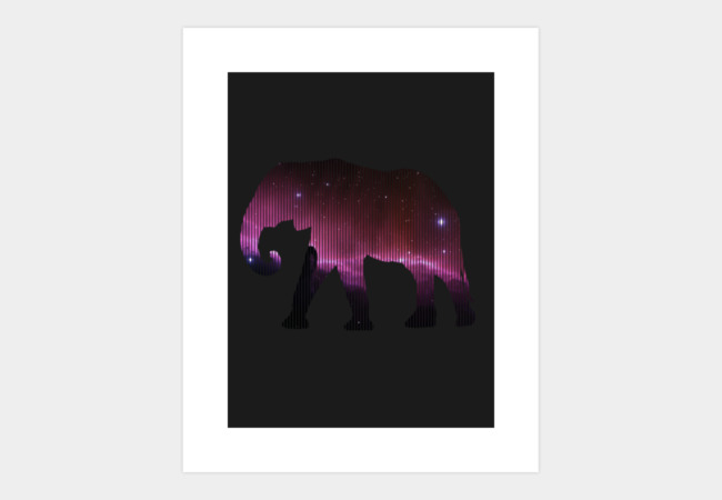 Space Elephant Art Print - Design By Humans