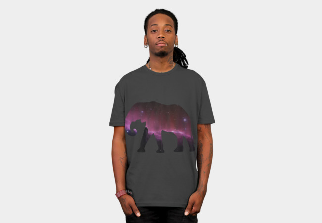 Space Elephant T-Shirt - Design By Humans