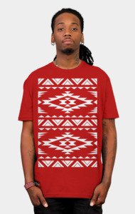 Aztec White Nation T-Shirt