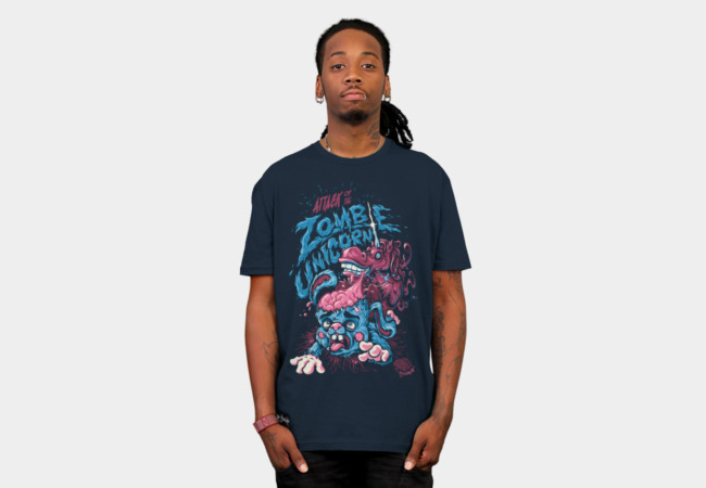 Attack Of The Zombie Unicorn T-Shirt - Design By Humans