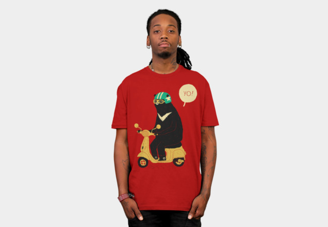 scooter bear T-Shirt - Design By Humans