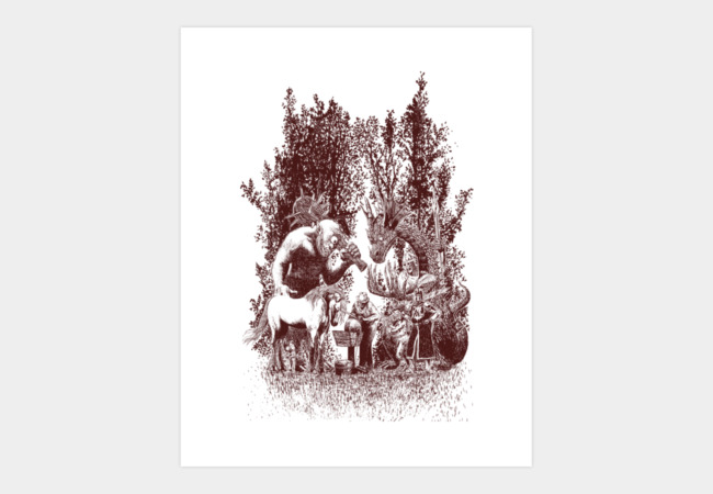 fairy tales knife grinder Art Print - Design By Humans