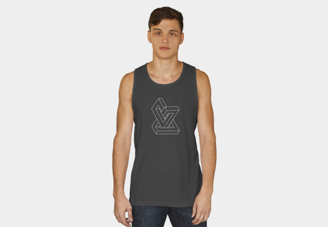 Optical illusion - Impossible figure Tank Top - Design By Humans