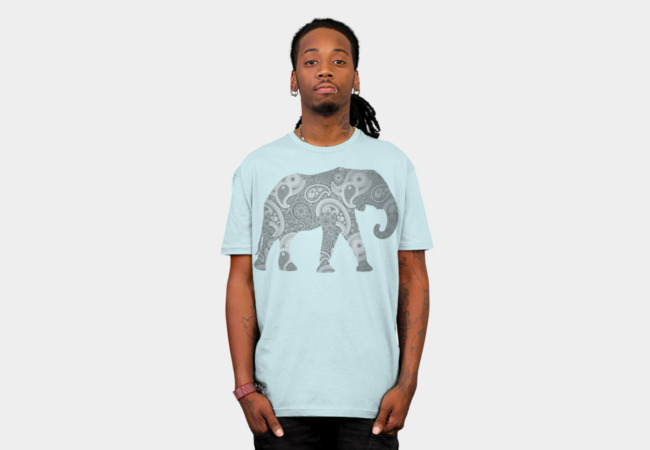 Paisley Elephant T-Shirt - Design By Humans