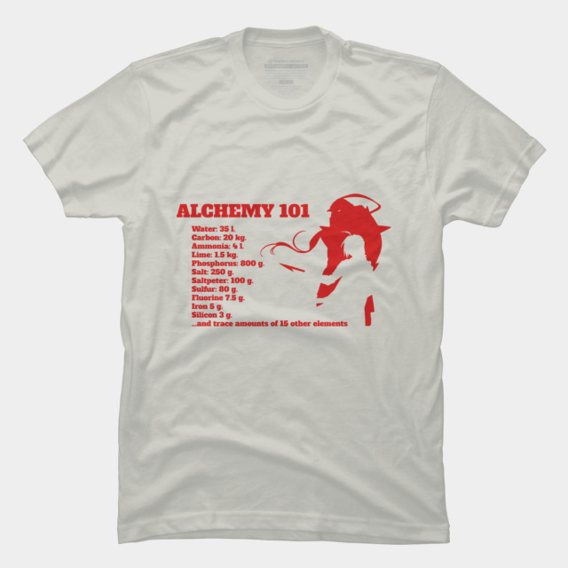 alchemy 101 t shirt by myanimesamurai design by humans