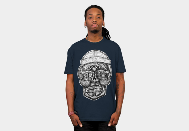 9 Eyed Skull Black T-Shirt - Design By Humans